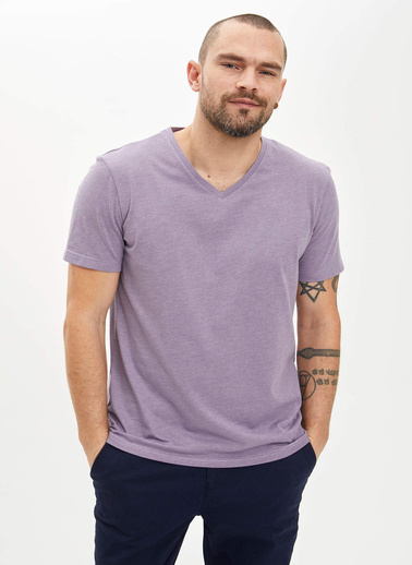 DeFacto Basic Slim Fit T-Shirt Mor
